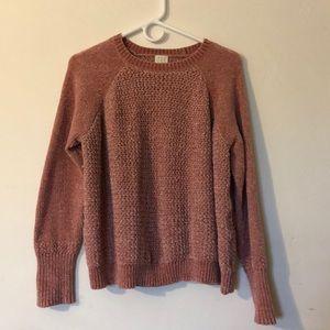 Chenille pink Sweater size medium